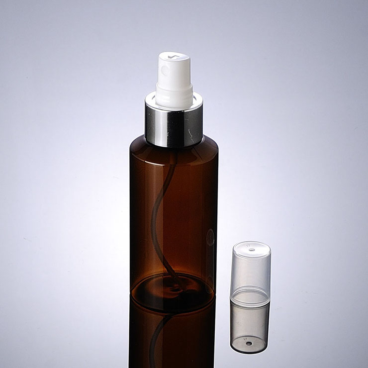 High quality green amber transparent plastic cosmetic 150ml PET Plastic Spray Bottle